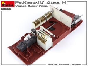 Build up 35298 Ⅳ号戦車 H型 Vomag工場製 初期型(1943年5月) フルインテリア(内部再現)