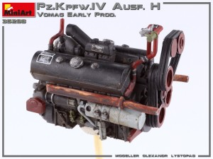 Build up 35298 Pz.Kpfw.IV Ausf. H Vomag. EARLY PROD. MAY 1943. INTERIOR KIT