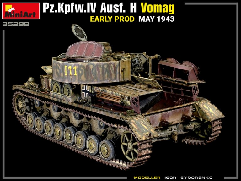 35298 Pz.Kpfw.IV Ausf. H Vomag. EARLY PROD. MAY 1943. INTERIOR KIT