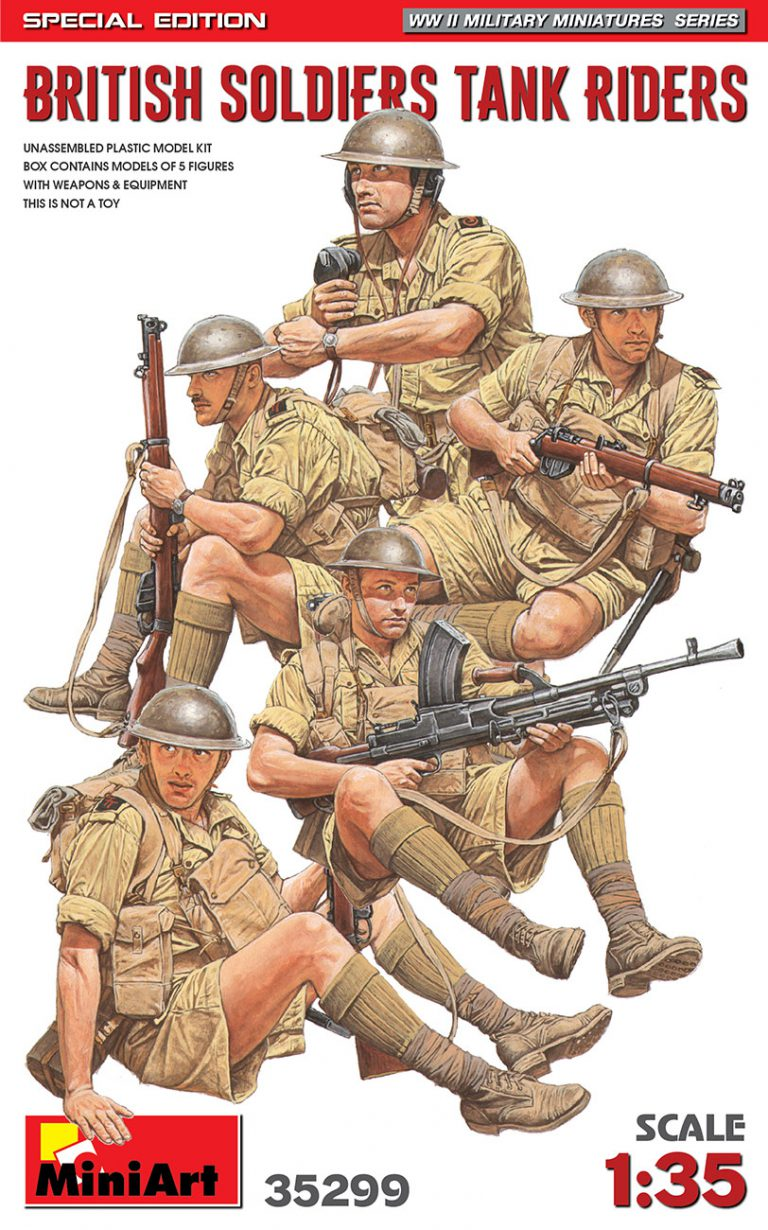 35299 BRITISH SOLDIERS TANK RIDERS. SPECIAL EDITION
