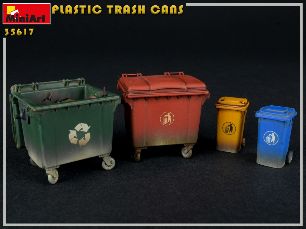 New Photos of Kit: 35617 PLASTIC TRASH CANS