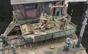 35303 SOVIET RAILWAY FLATBED 16,5-18t 35567 RAILROAD WATER CRANE 35554 GOODS SHED + Gilberto Rapelli