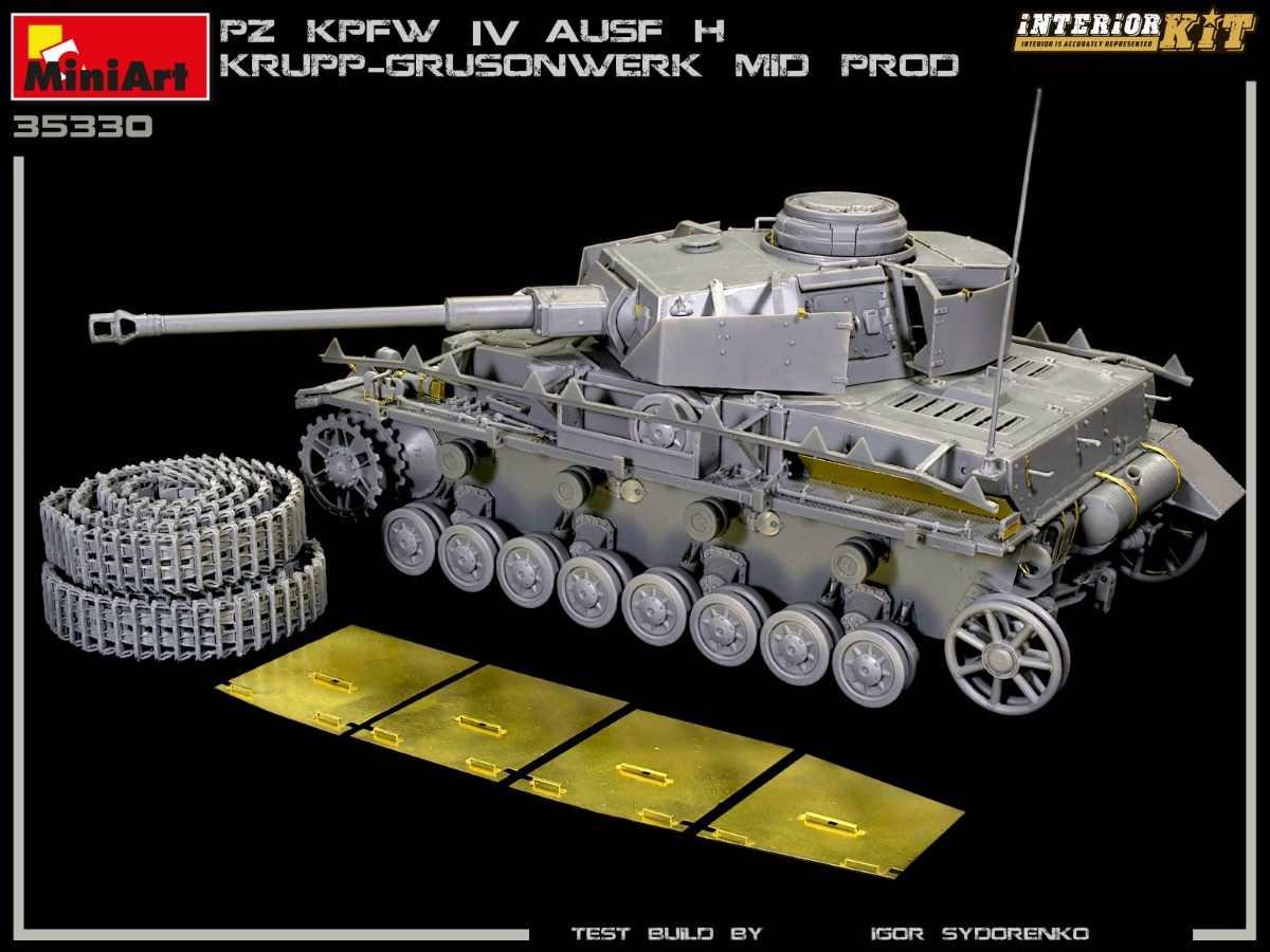 New Build Up of Kit: 35330 Pz.Kpfw.IV Ausf. H KRUPP-GRUSONWERK. MID PROD. AUG-SEP 1943. INTERIOR KIT