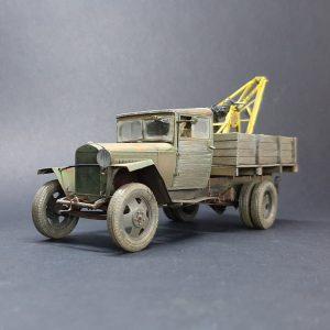 35134 GAZ-MM Mod.1943 CARGO TRUCK 35576 3 TON SERVICE CRANE + Yuriy Khloptsew