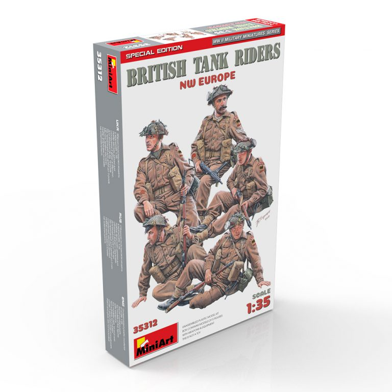 35312 BRITISH TANK RIDERS. NW EUROPE. SPECIAL EDITION