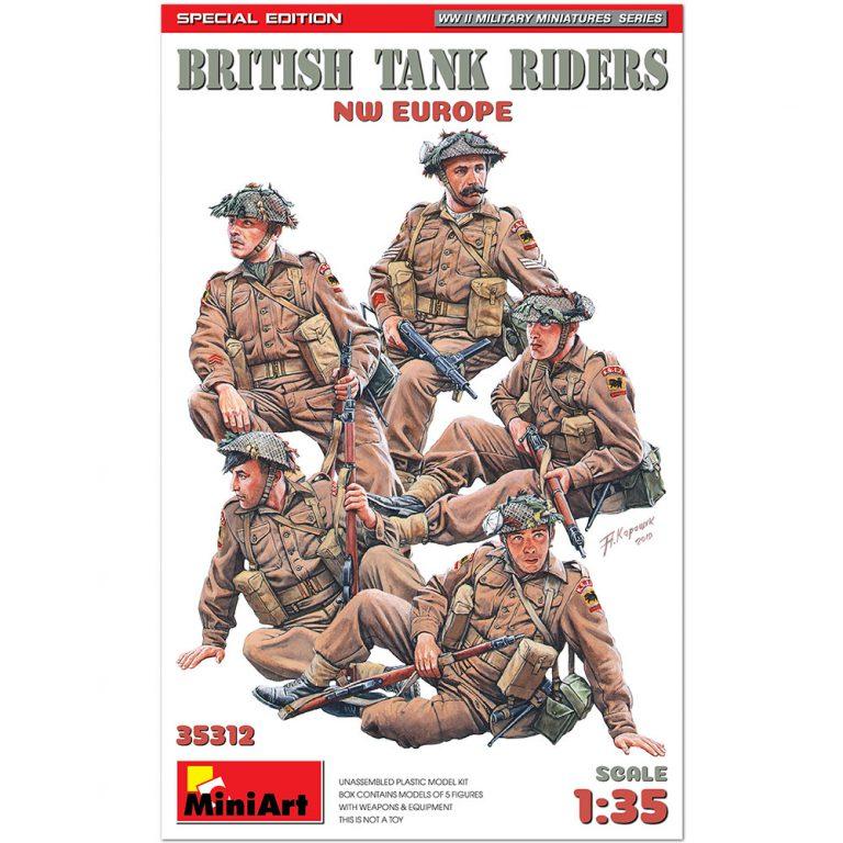イギリス軍戦車兵乗員セット5体入(NWヨーロッパ))特別版(歩兵用武器・装備品付)