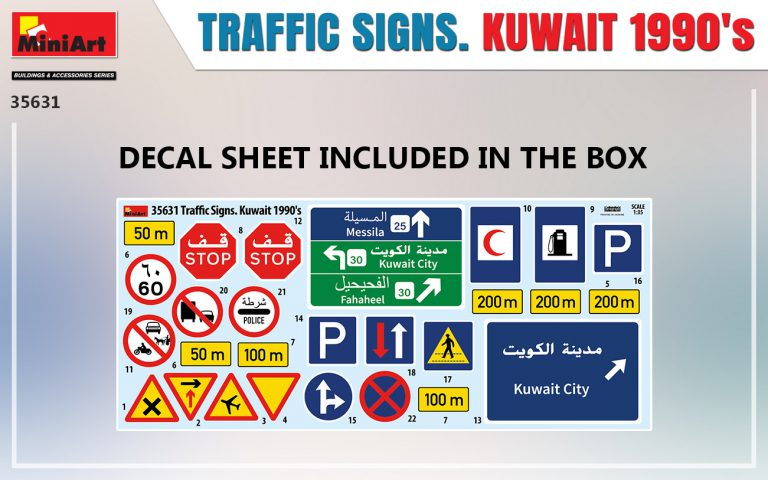 35631 TRAFFIC SIGNS. KUWAIT 1990's