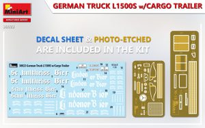 Content box 38023 GERMAN TRUCK L1500S w/CARGO TRAILER