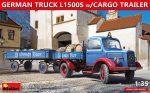 38023 ドイツトラックL1500S カーゴトレイラー付