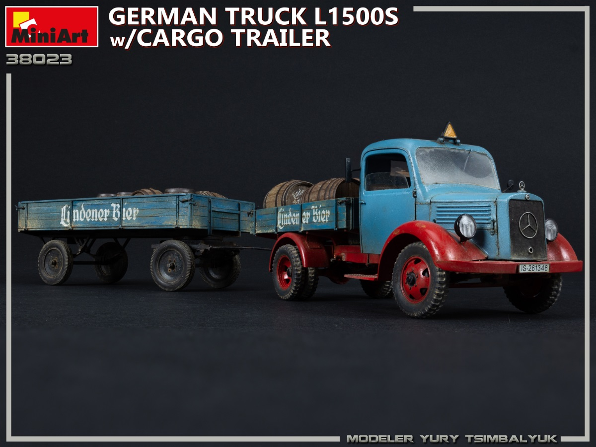 New Photos of Kit: 38023 GERMAN TRUCK L1500S w/CARGO TRAILER