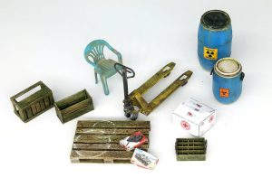 35560 STREET LAMPS & CLOCKS 35577 VODKA BOTTLES WITH CRATES 35606 HAND PALLET TRUCK SET 35590 PLASTIC BARRELS & CANS 35583 CABLE SPOOLS 35587 ALLIES JERRY CANS SET WW2 35588 GERMAN JERRY CANS SET WW2 35595 OIL & PETROL CANS 1930-40s 35615 MODERN OIL DRUMS 200L + Ilya Yut