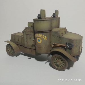 39005 AUSTIN ARMORED CAR 3rd SERIES: UKRAINIAN, POLISH, GEORGIAN, ROMANIAN SERVICE. INTERIOR KIT +