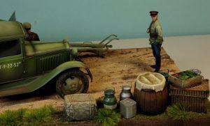 35127 GAZ-AAA CARGO TRUCK 35081 SOVIET ARTILLERY CREW ON MANEUVER + Stanislaw Jablonski