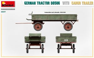 Side views 35317 GERMAN TRACTOR D8506 WITH CARGO TRAILER