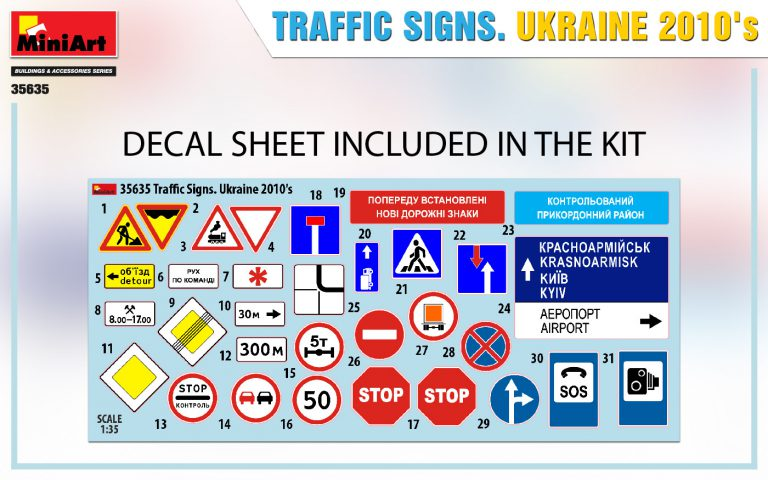 35635 TRAFFIC SIGNS. UKRAINE 2010's