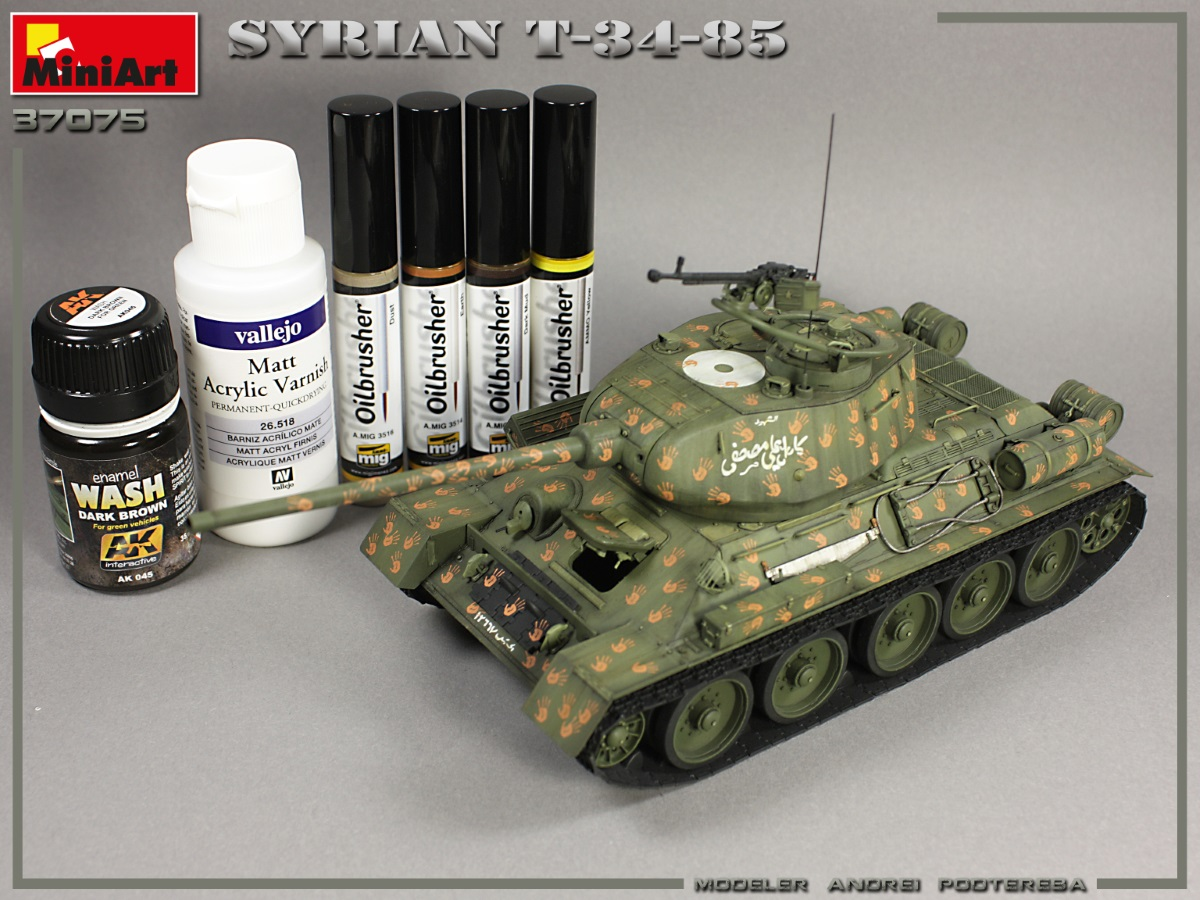 New Build Up Part II of Kit: 37075 SYRIAN T-34/85