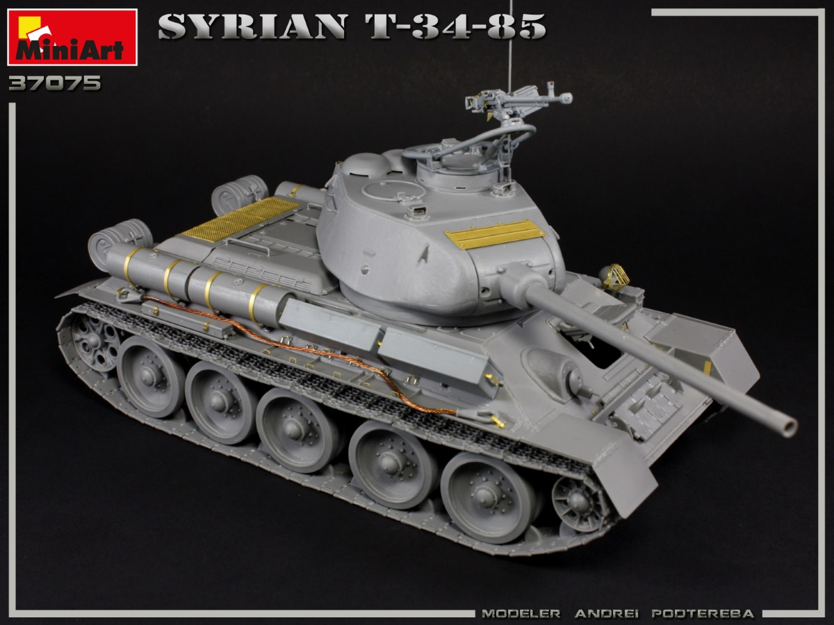 New Build Up of Kit: 37075 SYRIAN T-34/85