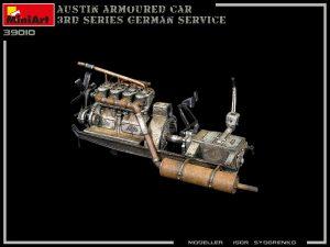 Build up 39010 AUSTIN ARMOURED CAR 3rd SERIES: GERMAN, AUSTRO-HUNGARIAN, FINNISH SERVICE. INTERIOR KIT