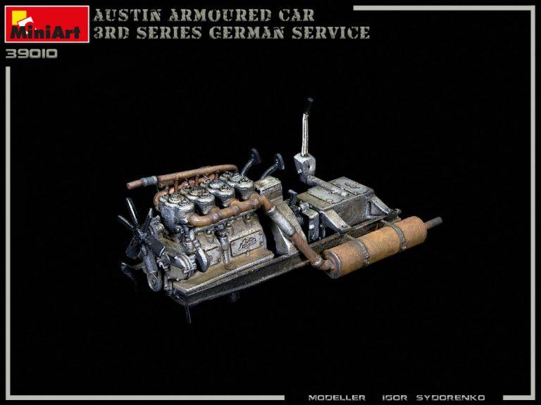 39010 AUSTIN ARMOURED CAR 3rd SERIES: GERMAN, AUSTRO-HUNGARIAN, FINNISH SERVICE. INTERIOR KIT