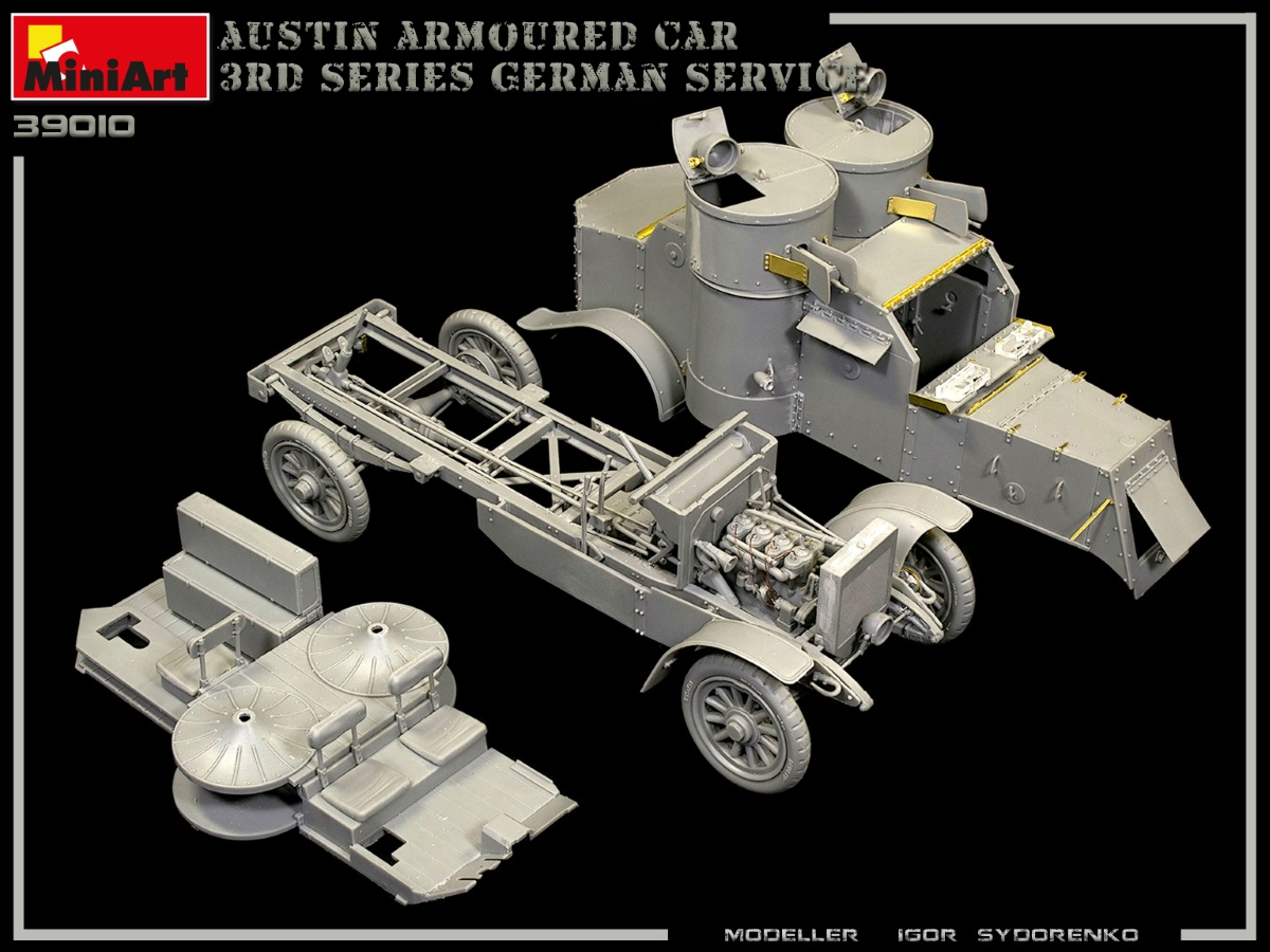 New Build Up of Kit: 39010 AUSTIN ARMOURED CAR 3rd SERIES: GERMAN, AUSTRO-HUNGARIAN, FINNISH SERVICE. INTERIOR KIT