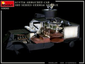 Build up 39010 AUSTIN ARMOURED CAR 3rd SERIES: GERMAN, AUSTRO-HUNGARIAN, FINNISH SERVICE. INTERIOR KIT