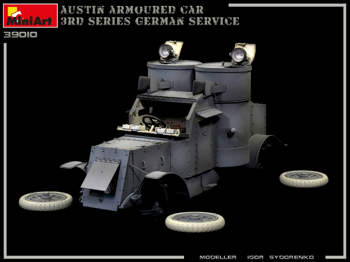 Build Up Part 2 of Kit: 39010 AUSTIN ARMOURED CAR 3rd SERIES: GERMAN, AUSTRO-HUNGARIAN, FINNISH SERVICE. INTERIOR KIT