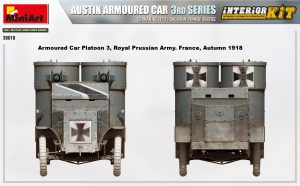 Side views 39010 AUSTIN ARMOURED CAR 3rd SERIES: GERMAN, AUSTRO-HUNGARIAN, FINNISH SERVICE. INTERIOR KIT