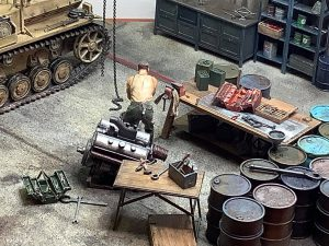 35596 GARAGE WORKSHOP 35603 TOOL SET 35062 GERMAN SOLDIERS AT REST 35319 GERMAN TANK REPAIR CREW. SPECIAL EDITION + Andrew Measey