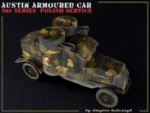 39005 AUSTIN ARMORED CAR 3rd SERIES: UKRAINIAN, POLISH, GEORGIAN, ROMANIAN SERVICE. INTERIOR KIT + Dmytro Kolesnyk