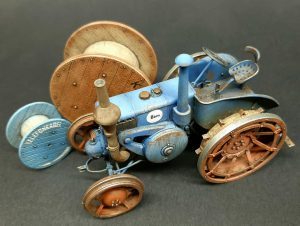 38024 GERMAN AGRICULTURAL TRACTOR D8500 MOD. 1938 + 35583 CABLE SPOOLS + Steve Palffy