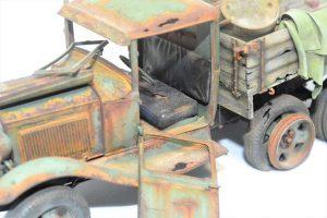 35127 GAZ-AAA CARGO TRUCK  35575 CHAMPAGNE & COGNAC BOTTLES w/CRATES  Elysium Nostromo