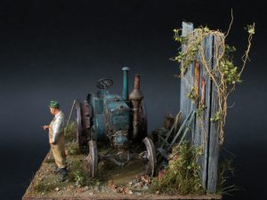 38024 GERMAN AGRICULTURAL TRACTOR D8500 MOD. 1938 + Michael Volquarts Miniatures