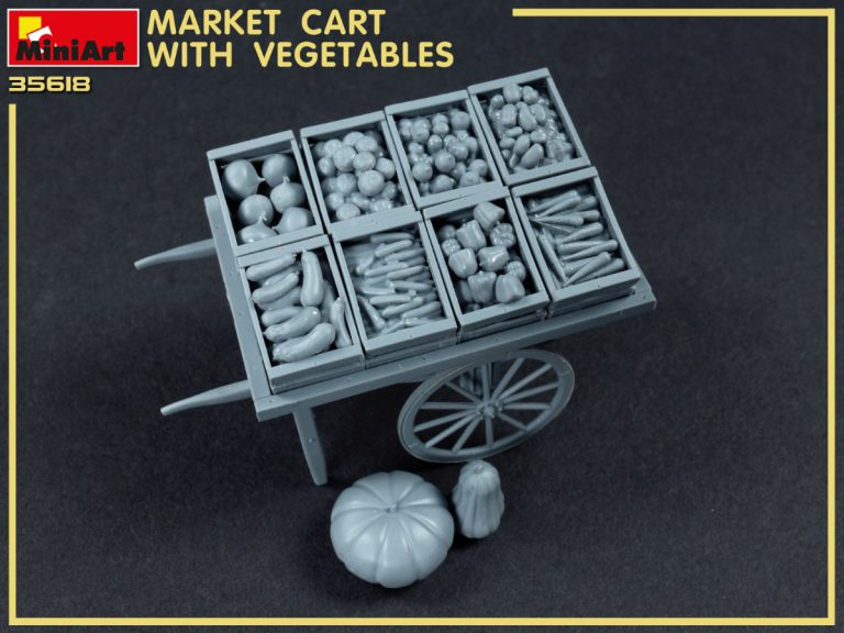 35623 MARKET CART WITH VEGETABLES