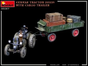 Photos 35317 GERMAN TRACTOR D8506 WITH CARGO TRAILER