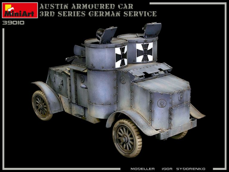 39010 AUSTIN ARMOURED CAR 3rd SERIES: GERMAN, AUSTRO-HUNGARIAN, FINNISH SERVICE. INTERIOR KIT