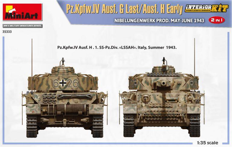 35333 Pz.Kpfw.IV Ausf. G Last/Ausf. H Early. NIBELUNGENWERK PROD. MAY-JUNE 1943. 2 IN 1 INTERIOR KIT