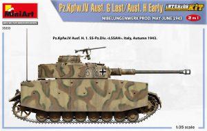 Side views 35333 Pz.Kpfw.IV Ausf. G Last/Ausf. H Early. NIBELUNGENWERK PROD. MAY-JUNE 1943. 2 IN 1 INTERIOR KIT