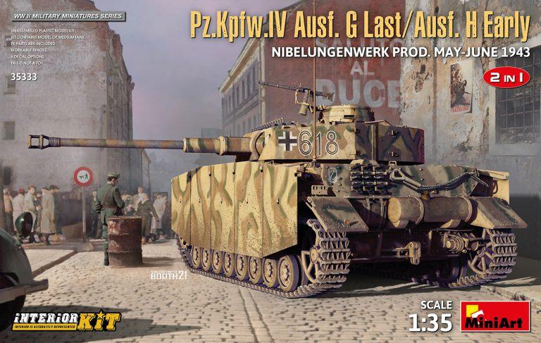 Pz.Kpfw.IV Ausf. G Last/Ausf. H Early. NIBELUNGENWERK PROD. MAY-JUNE 1943. 2 IN 1 INTERIOR KIT