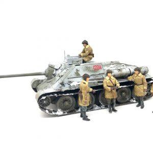 35178 SU-85 SOVIET SPG Mod.1943 w/CREW (Early Production) by DonGregorioYJack