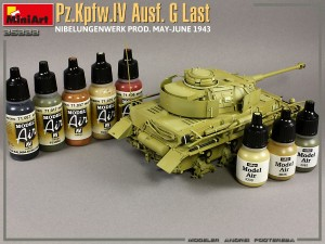 Build up 35333 Pz.Kpfw.IV Ausf. G Last/Ausf. H Early. NIBELUNGENWERK PROD. MAY-JUNE 1943. 2 IN 1 INTERIOR KIT