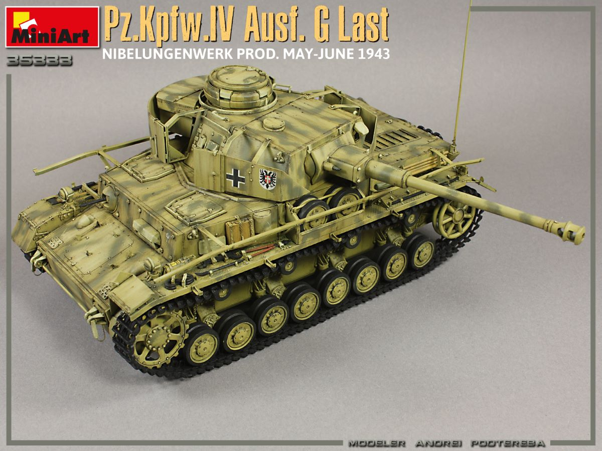 New Photos of Kit: 35333 Pz.Kpfw.IV Ausf. G Last/Ausf. H Early. NIBELUNGENWERK PROD. MAY-JUNE 1943. 2 IN 1 INTERIOR KIT