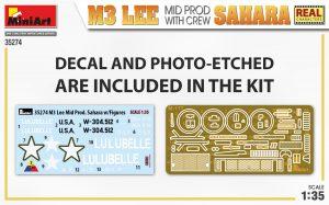 Content box 35274 M3 LEE MID PROD. SAHARA w/CREW