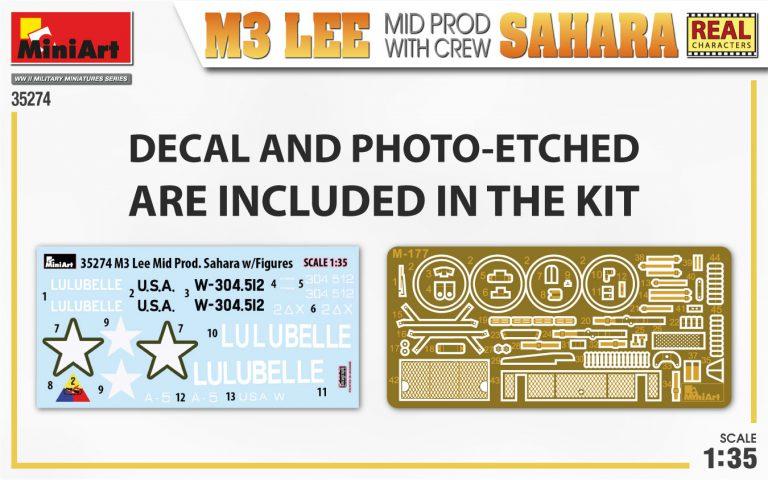 35274 M3 LEE MID PROD. SAHARA w/CREW