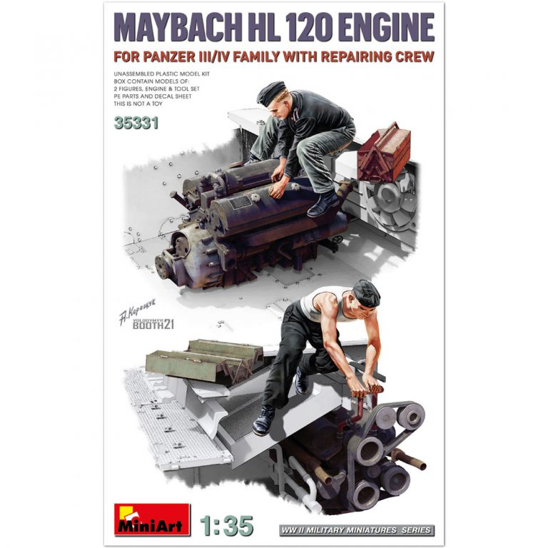 MAYBACH HL 120 ENGINE FOR PANZER III/IV FAMILY WITH REPAIR CREW