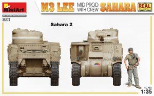 Side views 35274 M3 LEE MID PROD. SAHARA w/CREW