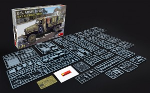 Content box 35380 U.S. ARMY G7107 4X4 1,5t CARGO TRUCK