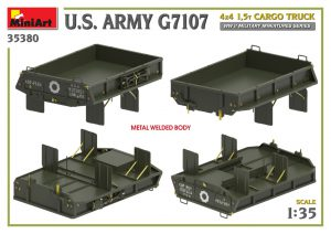 3D renders 35380 U.S. ARMY G7107 4X4 1,5t CARGO TRUCK