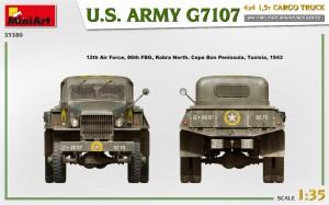 Side views 35380 U.S. ARMY G7107 4X4 1,5t CARGO TRUCK