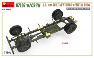 3D renders 35383 G7107 w/CREW 1,5t 4X4 CARGO TRUCK w/METAL BODY