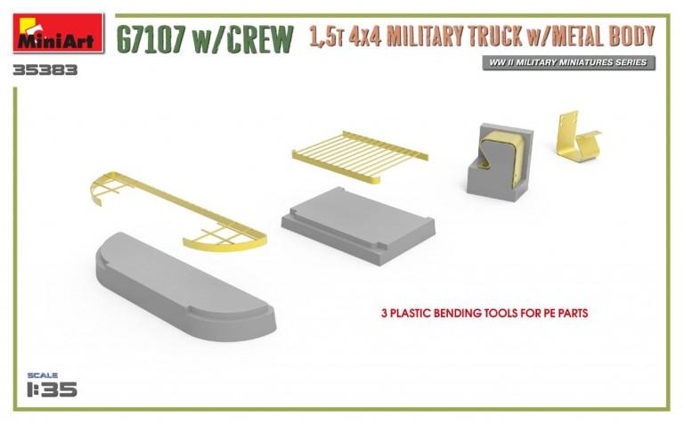 35383 G7107 w/CREW 1,5t 4X4 CARGO TRUCK w/METAL BODY